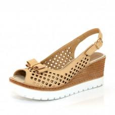 Дамски сандали с отворена пета и пръсти