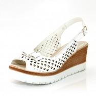 Дамски сандали на платформа с отворени пръсти и пета