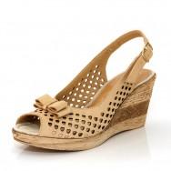 Дамски сандали с отворени пръсти и пета