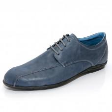 Мъжки спортно-елегантни обувки с връзки - син