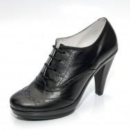 "Дамска елегантна обувка на висок ток тип ""Оксфорд"""
