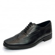 Мъжки официални обувки с швейцарски мотив и монограм