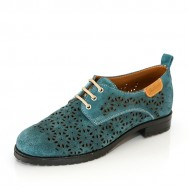 Дамска елегантна обувка с лазерна перфорация